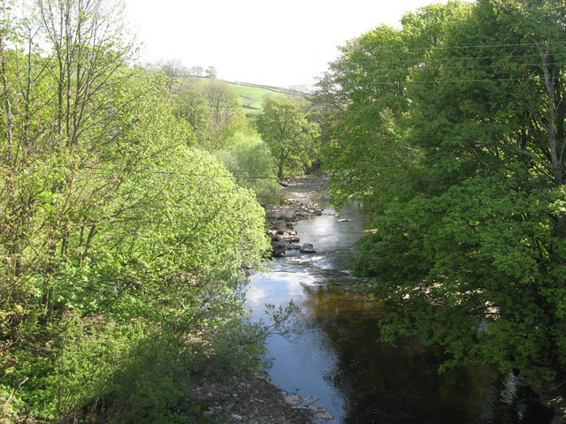 The River Wear downstream of the bridge at Westgate