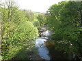 NY9038 : The River Wear downstream of the bridge at Westgate by Mike Quinn