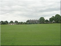 SE1527 : Upper Wyke Recreation Ground - viewed from Towngate by Betty Longbottom