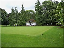 NZ0516 : The Bowling Green at Bowes Museum by Ann Clare