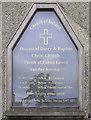 C3432 : Noticeboard, Christ Church, Buncrana by Kenneth  Allen