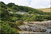 SX5646 : Stoke Beach Caravan Park by Tony Atkin
