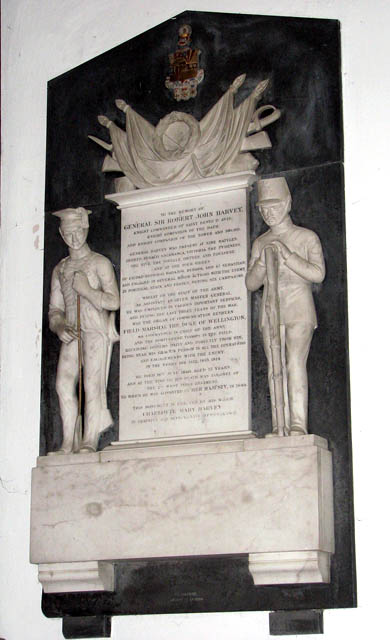 St Mary's church - memorial to General Sir R. Harvey