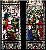 TM1994 : St Mary's church - chancel south window by Evelyn Simak