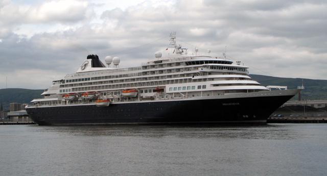 Cruise ship 'Prinsendam' at Belfast