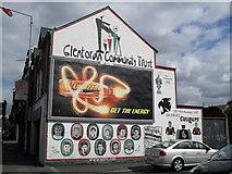J3574 : Glentoran Community Trust mural by Dean Molyneaux