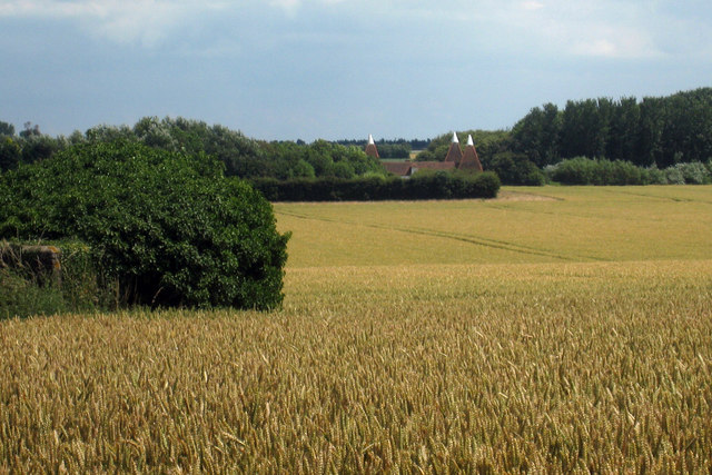 View to Twitham Oast, Staple Road, Wingham, Kent