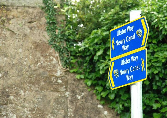Ulster Way signs near Newry