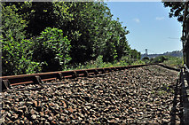SX4460 : Gunnislake to Plymouth railway track at Ernesettle by Mick Lobb
