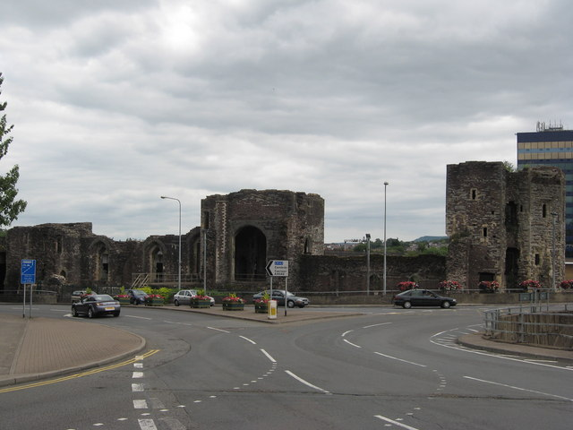Castle, Newport, South Wales by Richard Rogerson