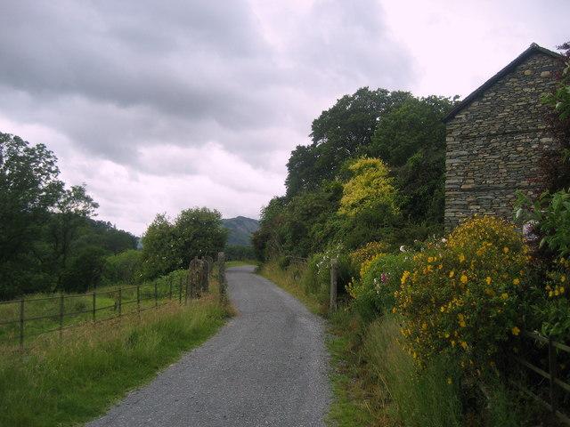 Track on Northern edge of Loughrigg Tarn