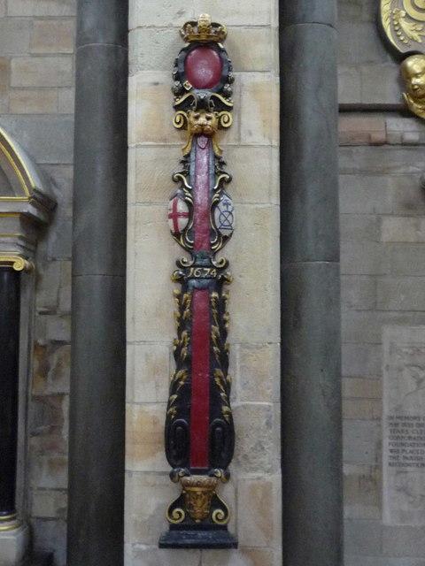 Southwark Cathedral - sword rest