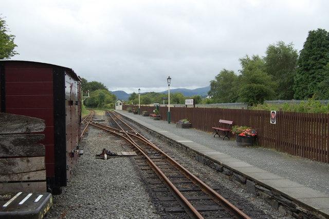 Platform at the Welsh Highland Railway Station