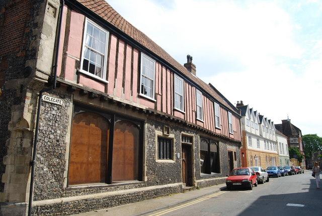 Flint & half timbered building, Colegate