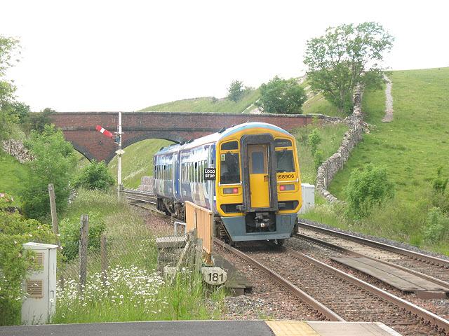 Kirkby Stephen station: down starter signal