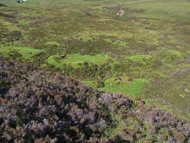Shieling remains on Beinn na Crèiche