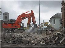 TQ7568 : Destruction machines on Sir John Hawkins Flyover, Chatham by David Anstiss
