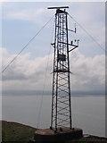SJ1888 : Mast on Hilbre Island by John S Turner