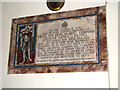 TM0287 : St Andrew's church - memorial by Evelyn Simak