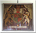 TM0486 : St Mary's church - Charles I royal arms by Evelyn Simak