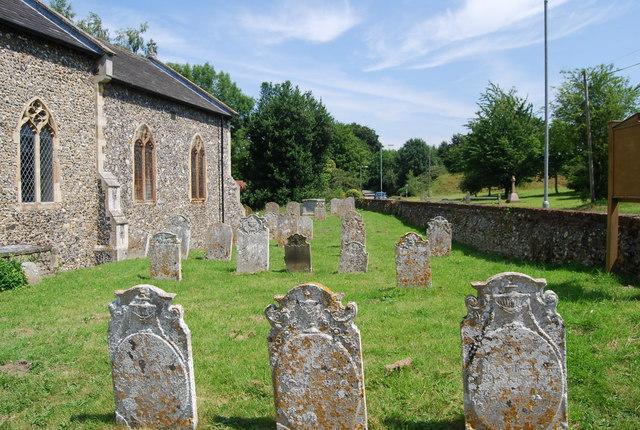 Churchyard, St Andrew's Church, Colney
