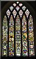 TM2887 : St Mary's church - east window by Evelyn Simak