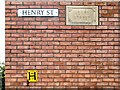 SJ9494 : Henry Street Name Signs by Gerald England