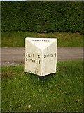 SJ9239 : Rough Close milepost - detail by Richard Law