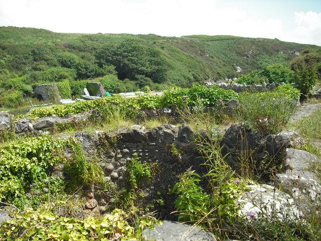 On  top of the Porthclais lime kilns