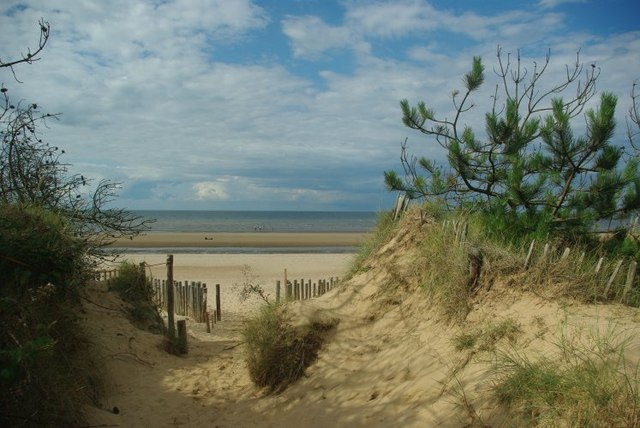 View out to sea from Holme Dunes