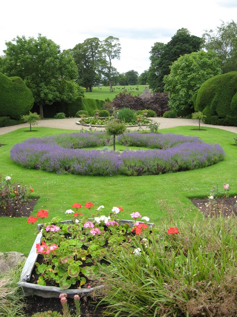 Herbaceous borders, Raby Castle