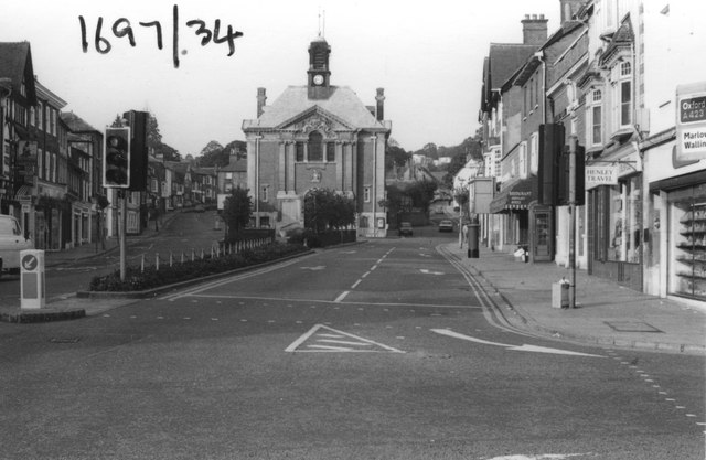 Henley town hall and Falaise Square in 1980 by Antony Ewart Smith