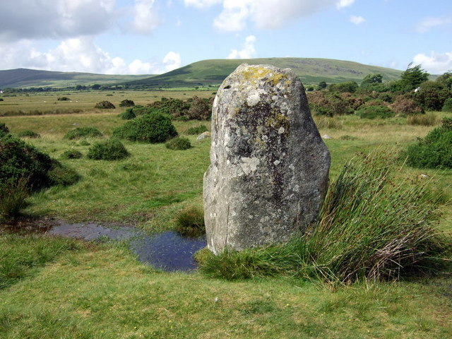 Western standing stone at Gors Fawr