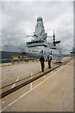 SU6200 : HMS Daring tied up at Victory Jetty by Peter Facey