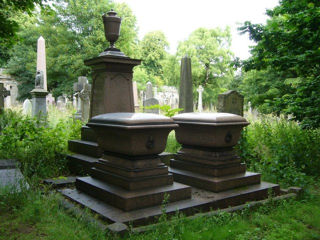 Diplomat and wife's tombstones, Warriston Cemetery by kim traynor