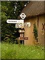 ST9615 : Farnham: Minchington Farm finger-post by Chris Downer