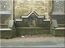 SE1223 : Former National School, Church Lane, Southowram, Stone by Alexander P Kapp