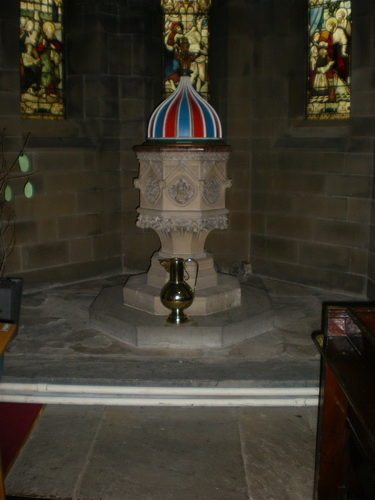 The Parish Church of St Anne in the Grove, Southowram, Font