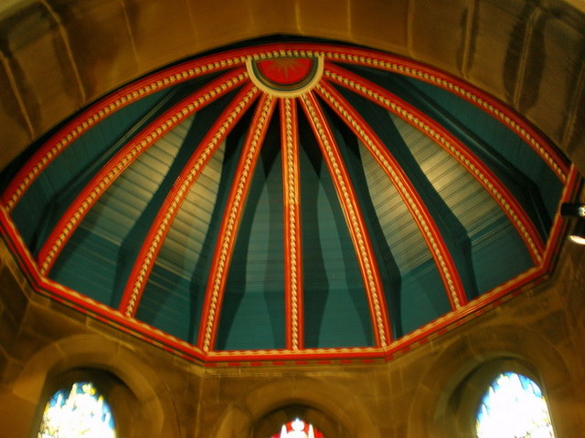 The Parish Church of St Anne in the Grove, Southowram, Ceiling detail