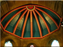 SE1223 : The Parish Church of St Anne in the Grove, Southowram, Ceiling detail by Alexander P Kapp