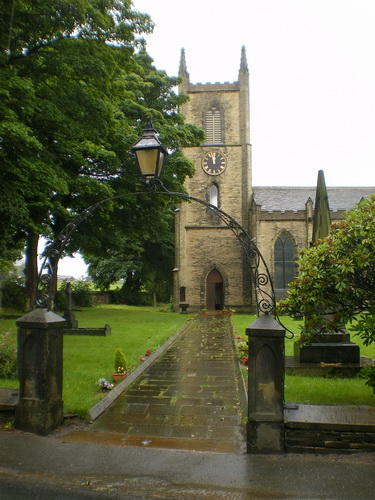 The Parish Church of St Anne in the Grove, Southowram, Path