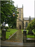 SE1223 : The Parish Church of St Anne in the Grove, Southowram, Path by Alexander P Kapp