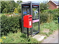 TM3660 : Post Office Farnham Postbox  & Telephone Box by Geographer