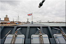 SU6200 : View south over bow of HMS Daring by Peter Facey