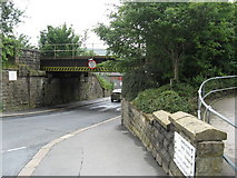 SD6922 : Railway Bridge over Atlas Road, Darwen, Lancashire by Richard Rogerson