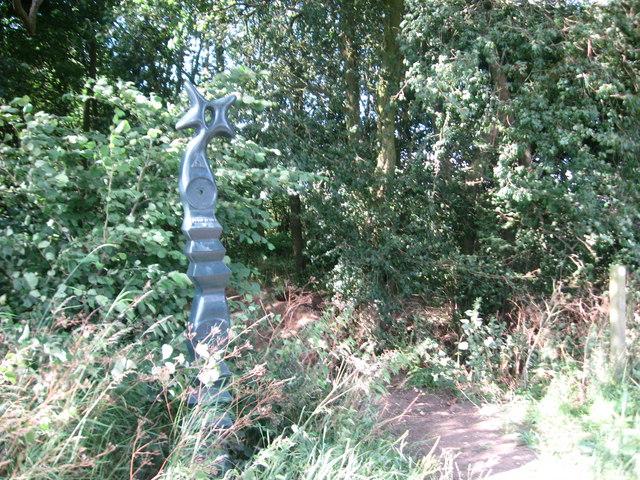 Millennium milepost on NCN51