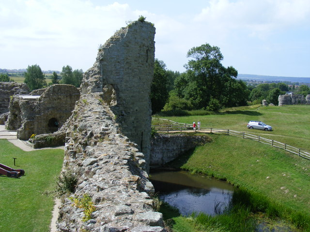 Gateway to the Norman Pevensey Castle