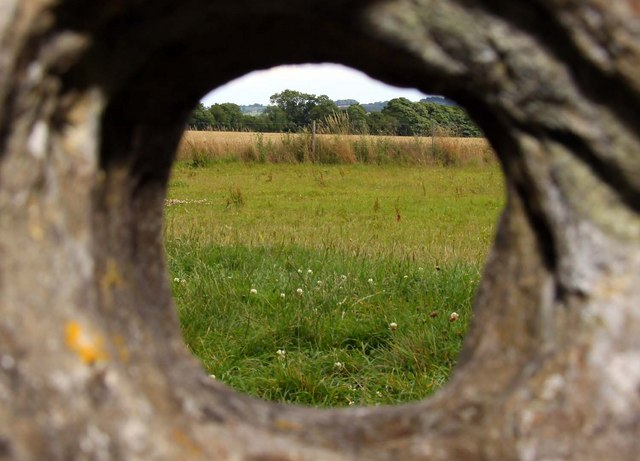 Looking through a hole in one of the Rollright Stones