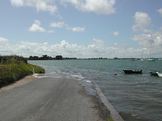 Shore Road at high tide