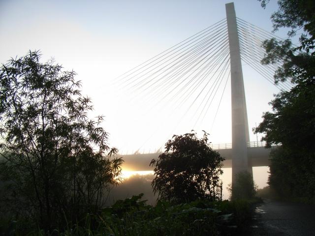 Sunrise at the M1 Boyne Bridge